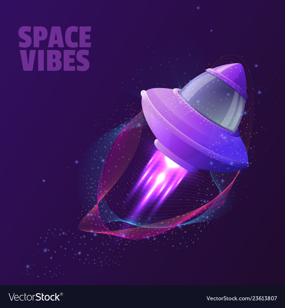 Design with space ship