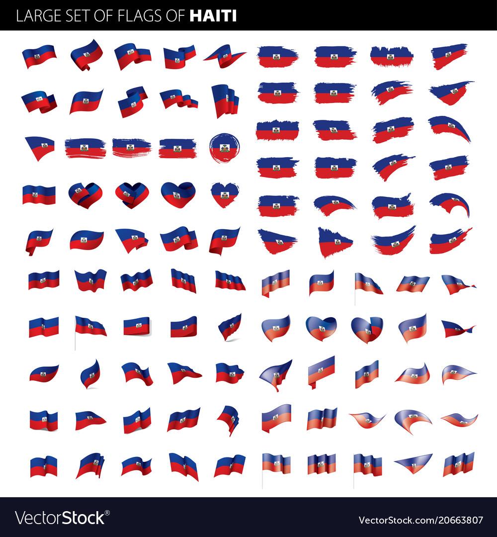 Haiti flag vector image