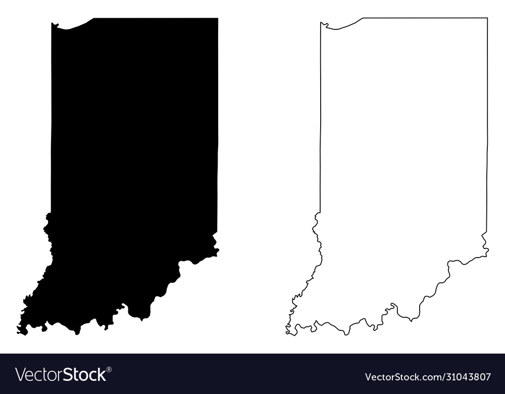 Indiana in state map usa