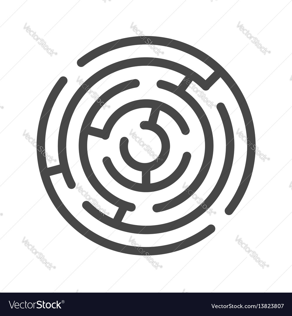 Labyrinth thin line icon