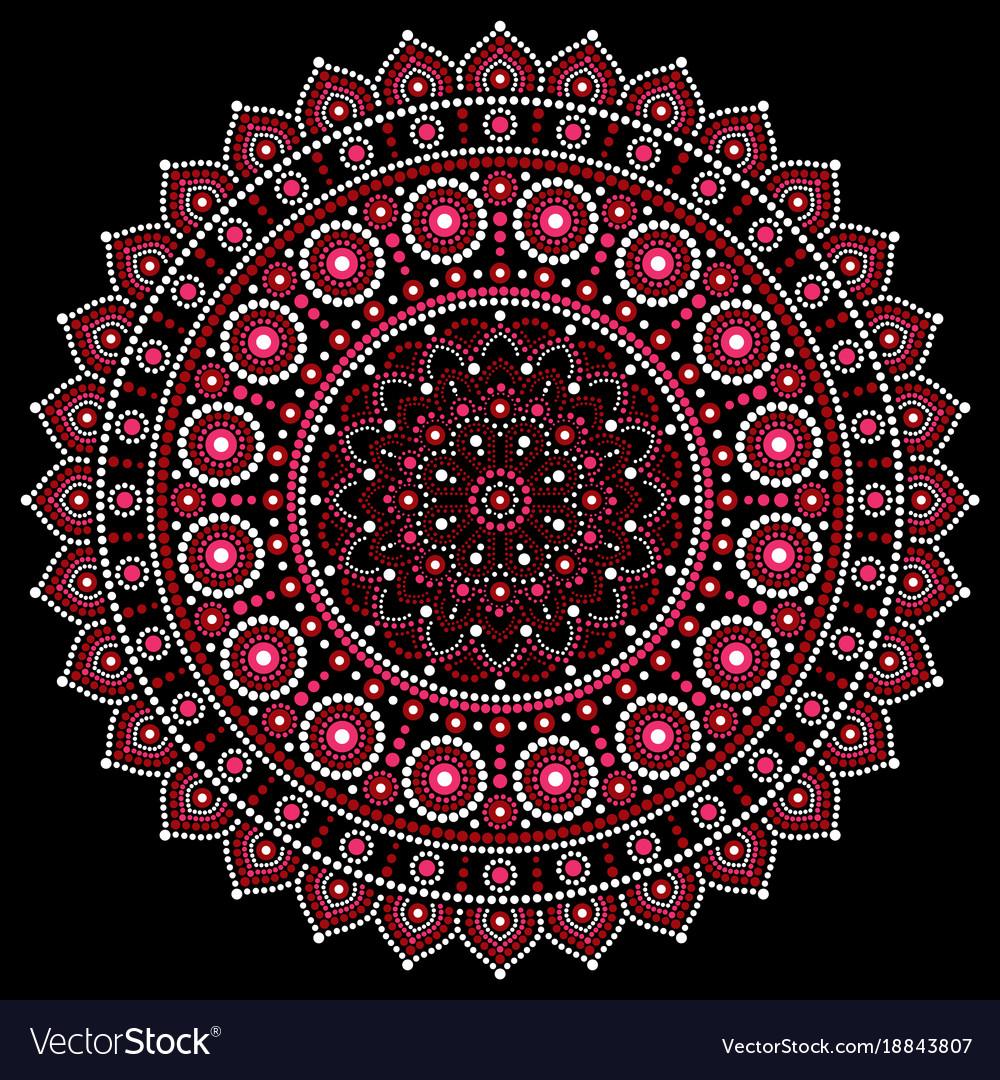 Mandala design aboriginal dot painting s
