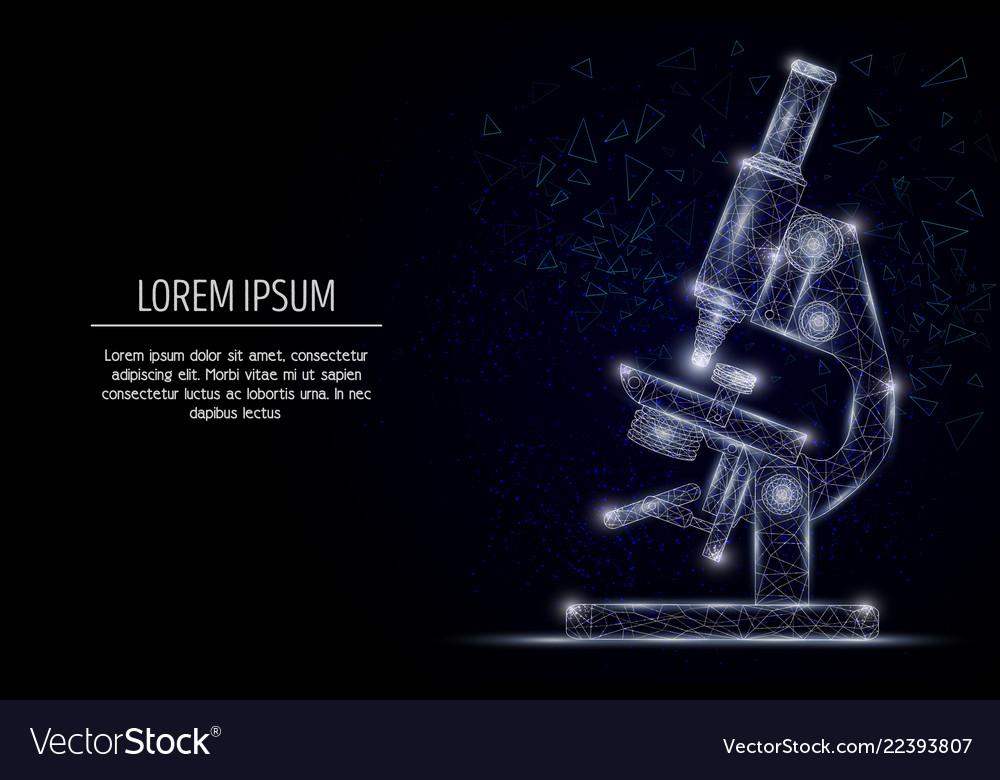 Microscope geometric polygonal art style