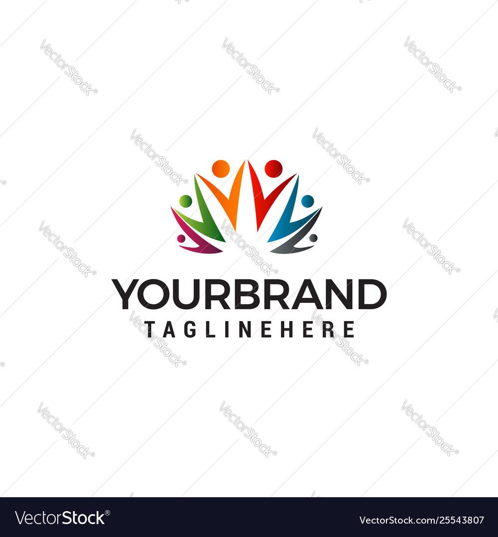 People community logo design concept template