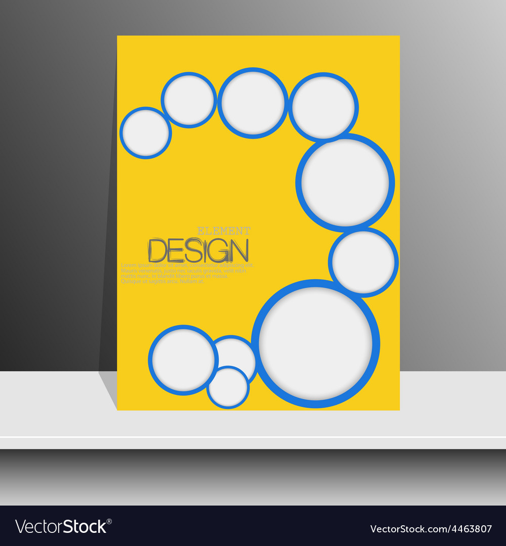 professional flyer template or corporate banner vector image