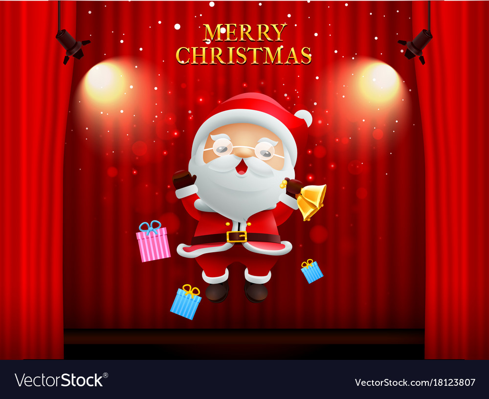 Santa claus merry christmas happy newyear on