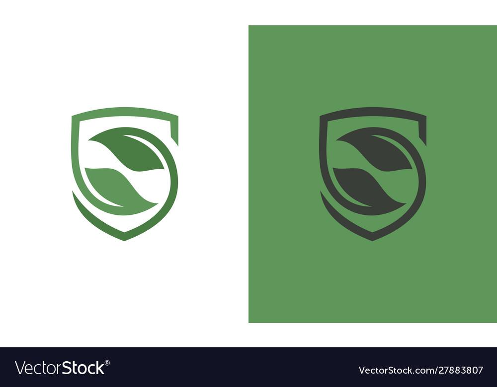 Shield green logo