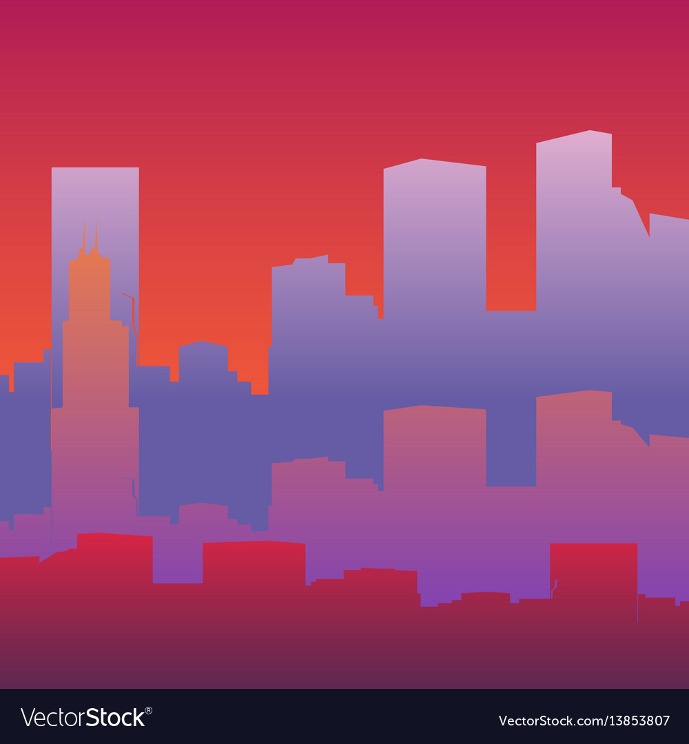 Silhouette of a big city