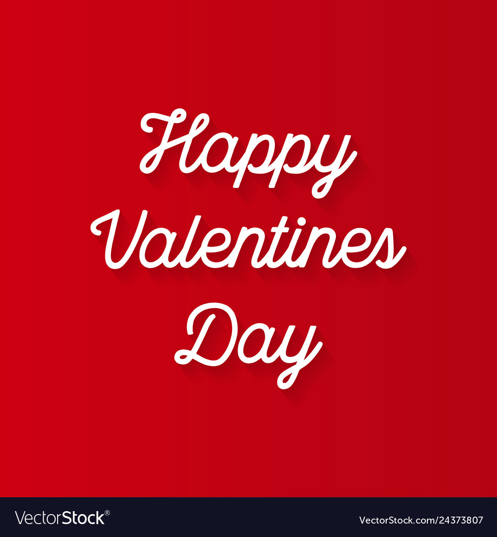 The valentines day on a red background
