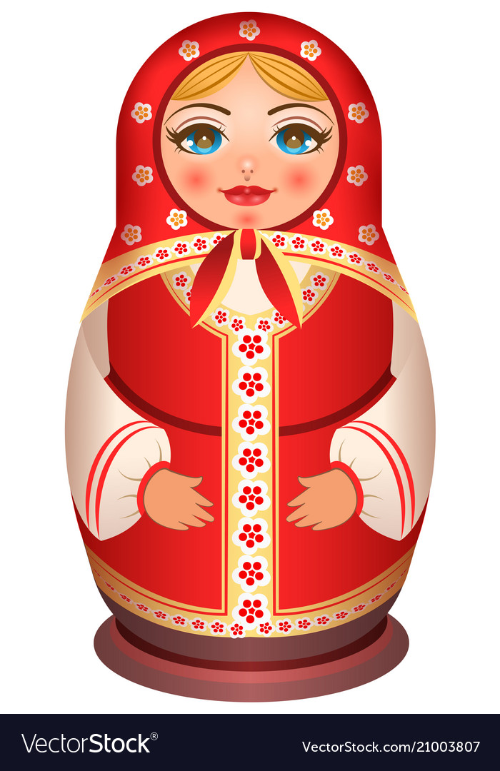 Traditional national painted wooden of russian