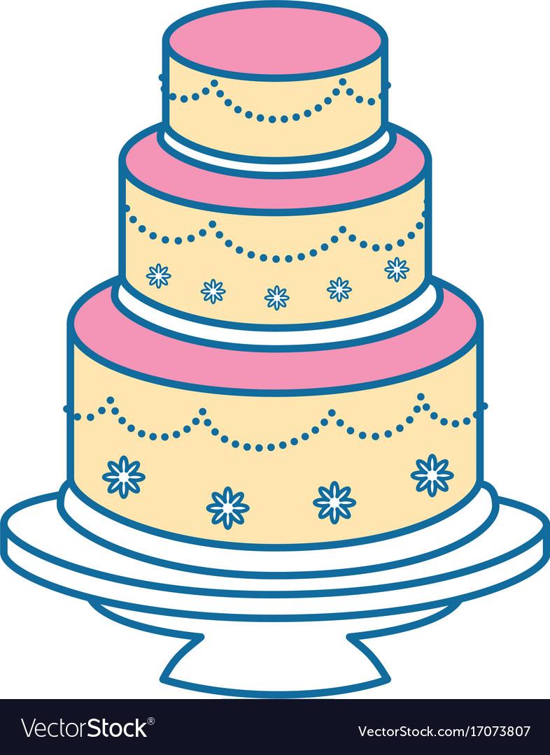 Wedding cake icon Royalty Free Vector Image - VectorStock