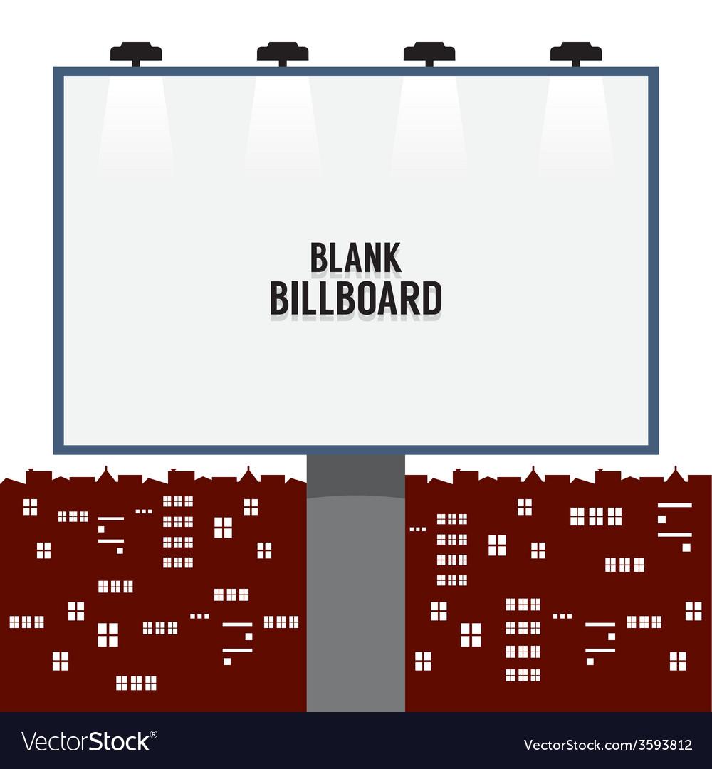 Blank Advertising Billboard In The City