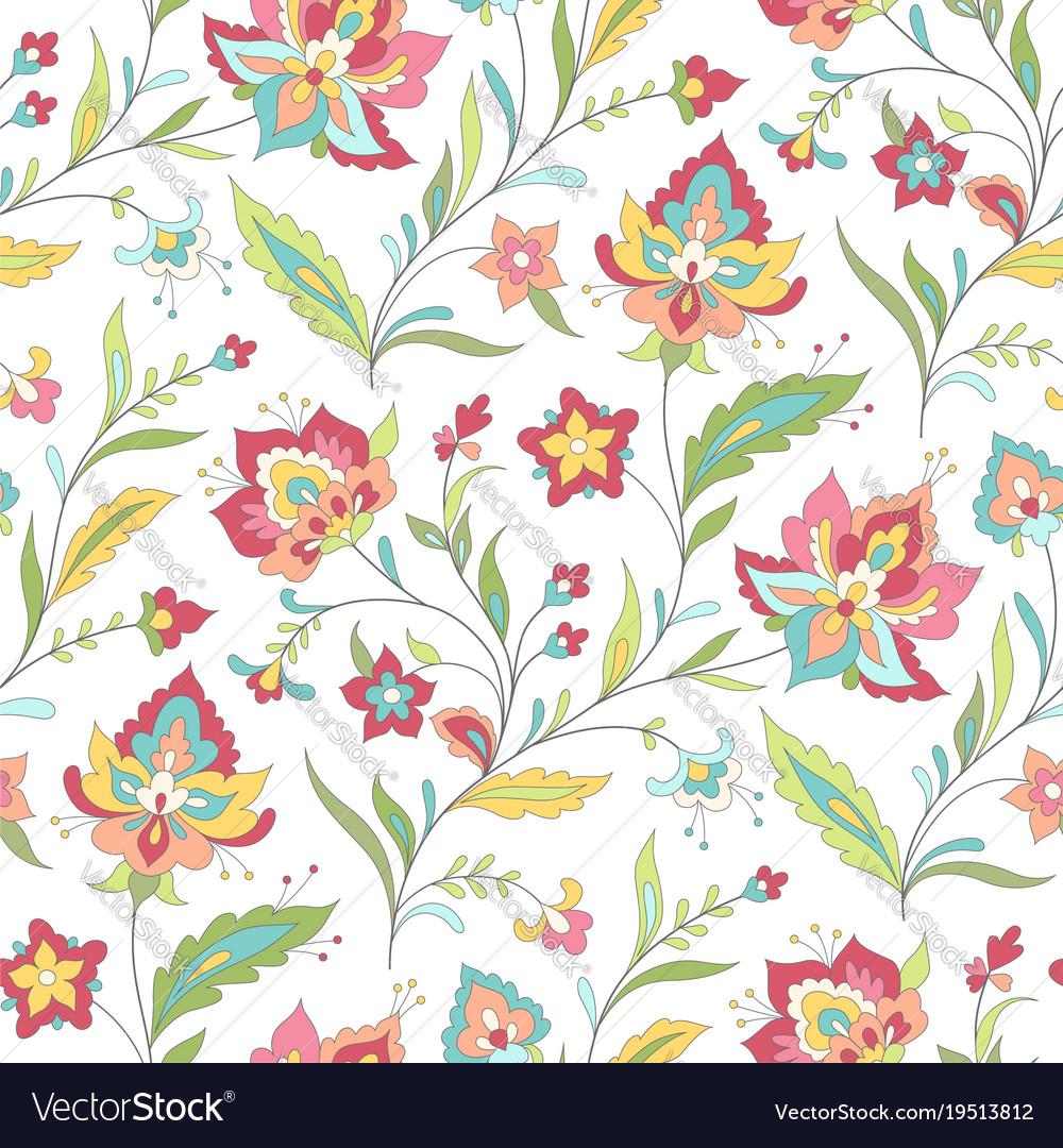 boho floral pattern royalty free vector image - vectorstock  vectorstock