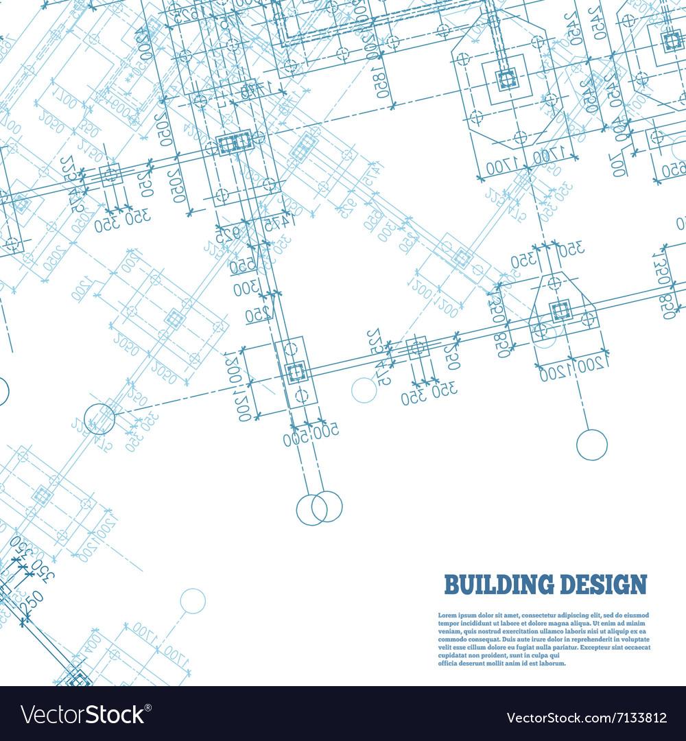 Building design background Blue pile caps plan