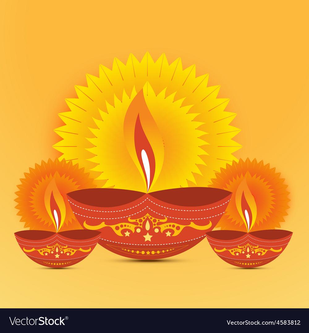 Diwali Diya Background Royalty Free Vector Image