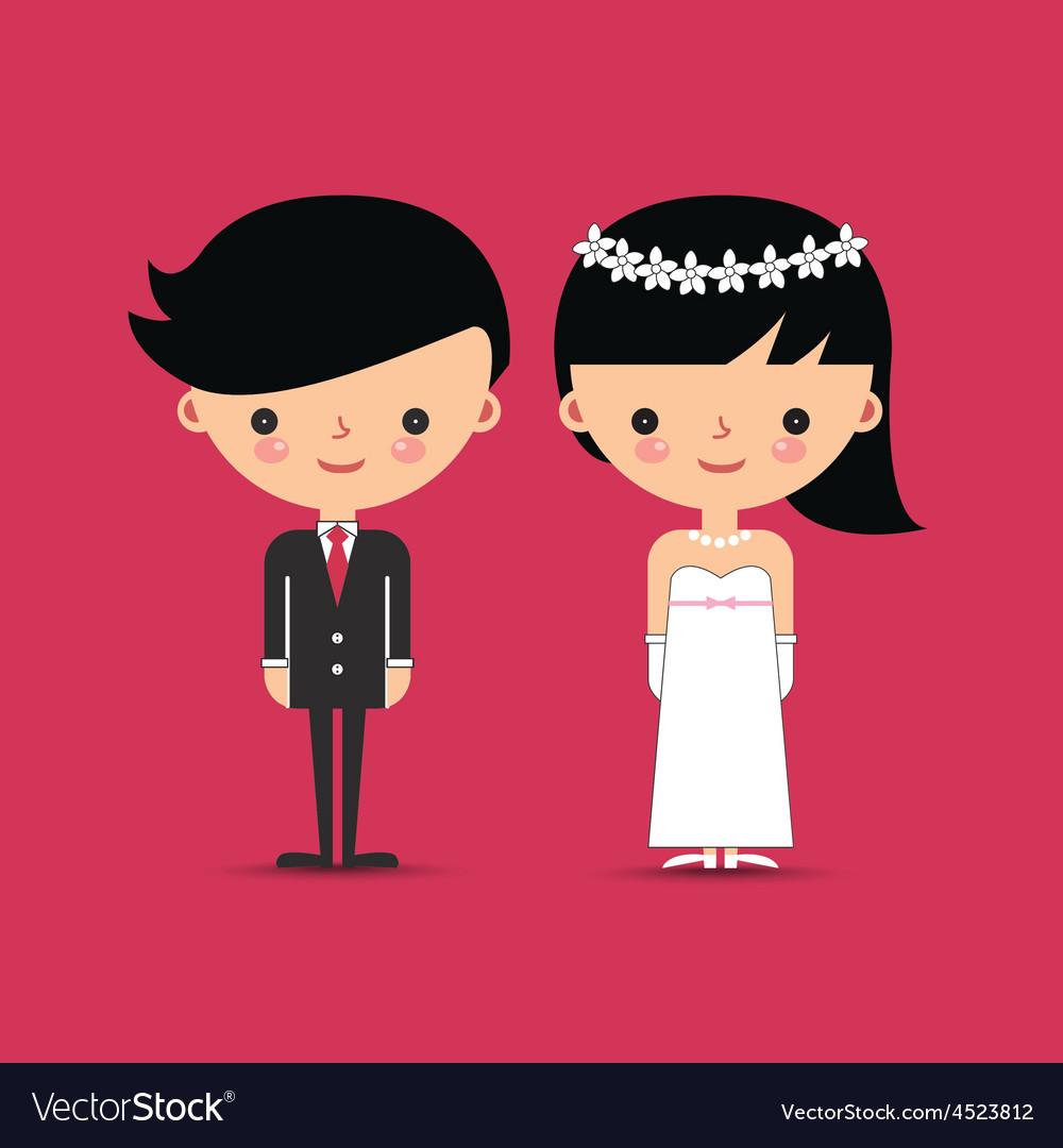 Groom and Bride Wedding Characters