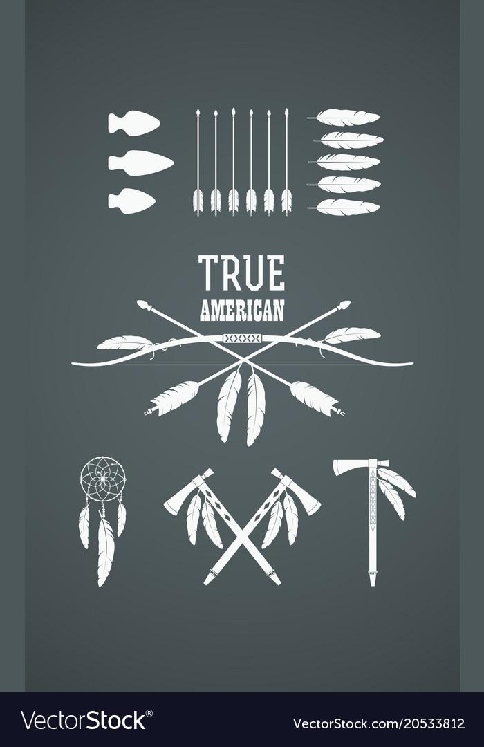 Indian symbols set vector image