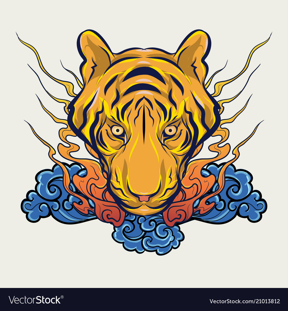 Japanese style tiger