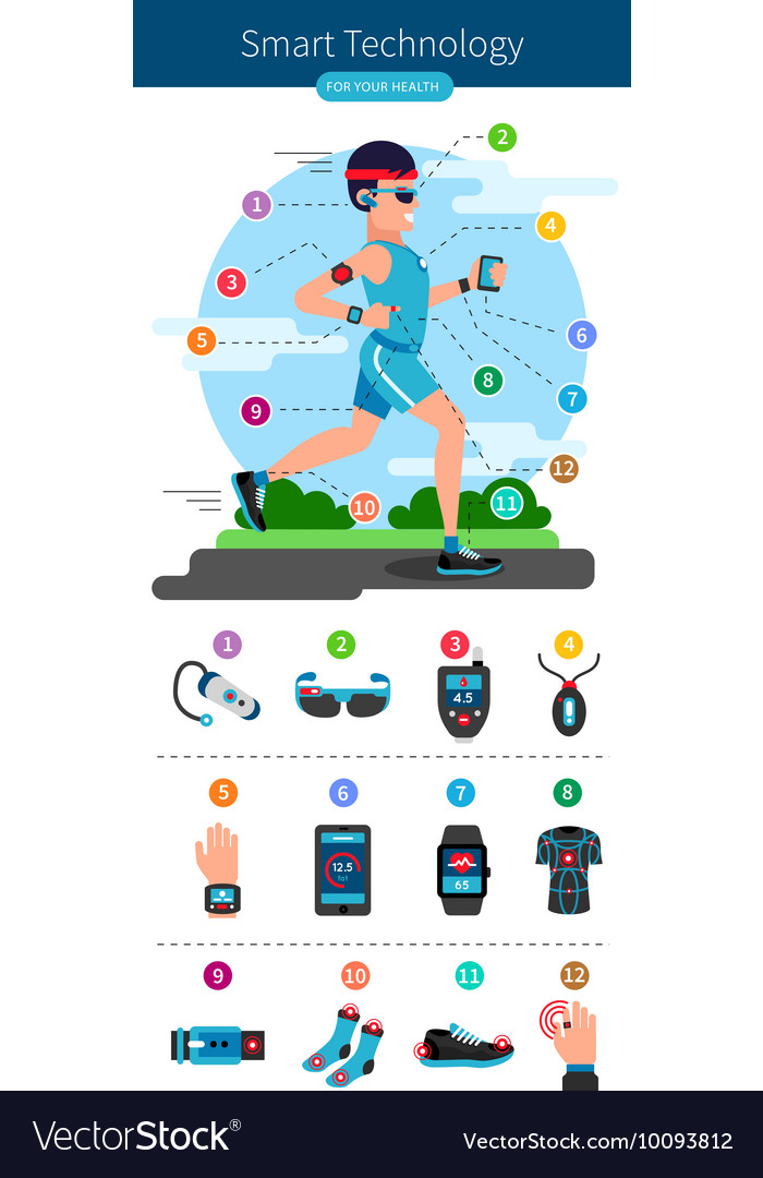 Smart Technology Line Infographic