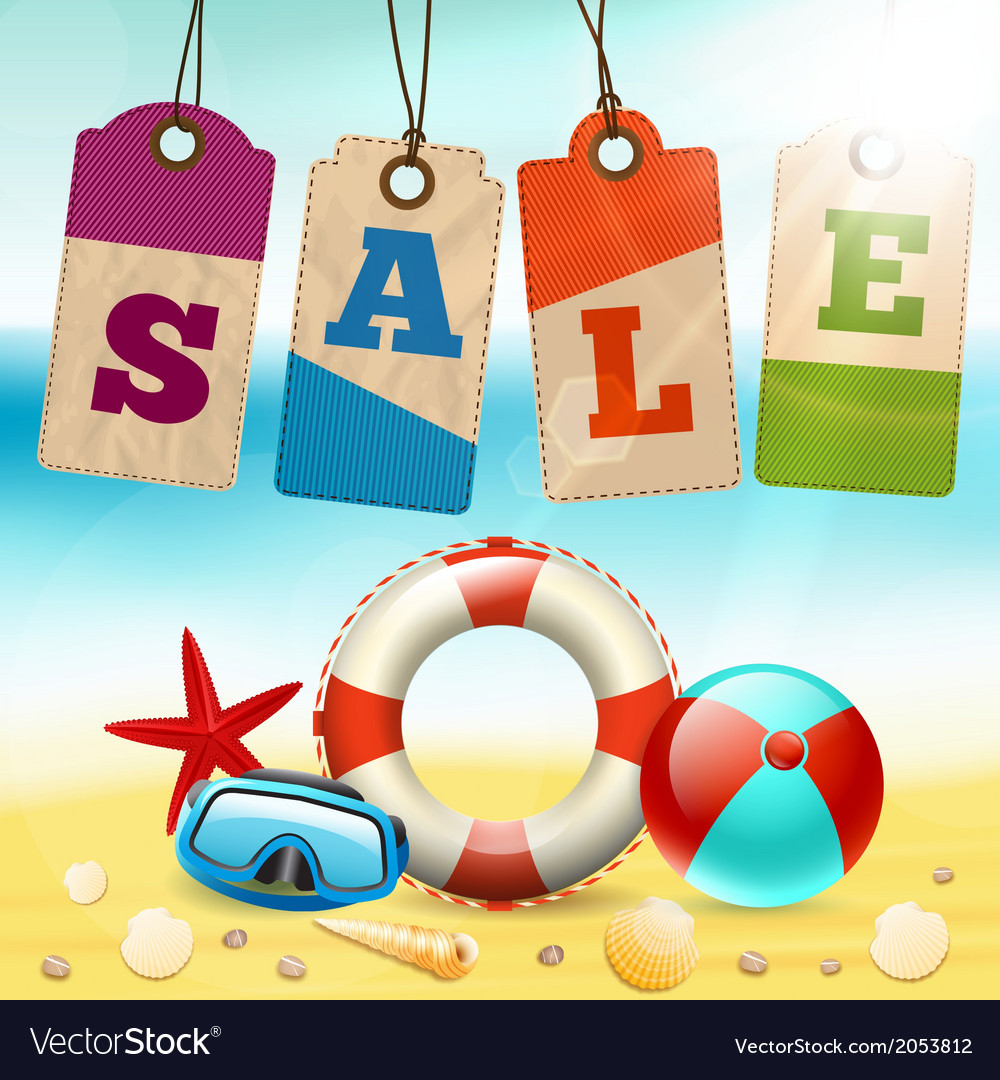 Summer Sale Wallpaper Vector Image