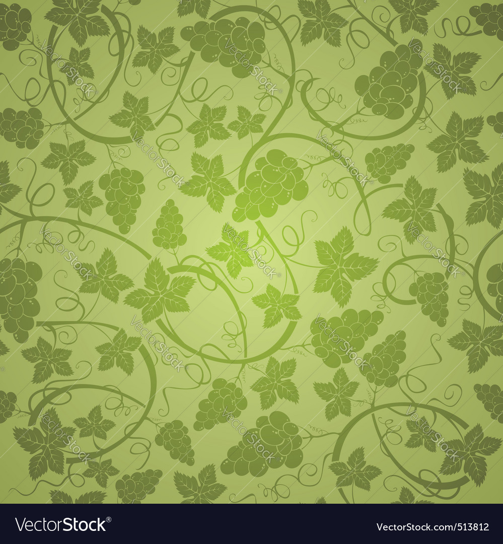 Vine seamless background vector image