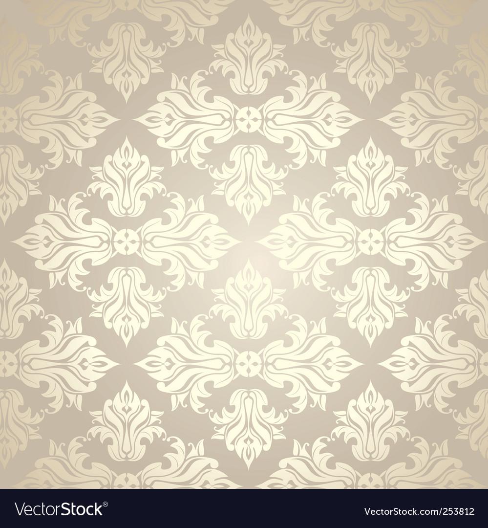 Vintage Damask Wallpaper Royalty Free Vector Image