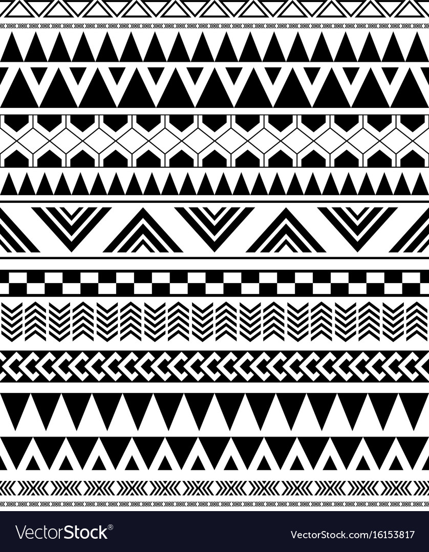 geometric seamless pattern in native americans vector image  vectorstock