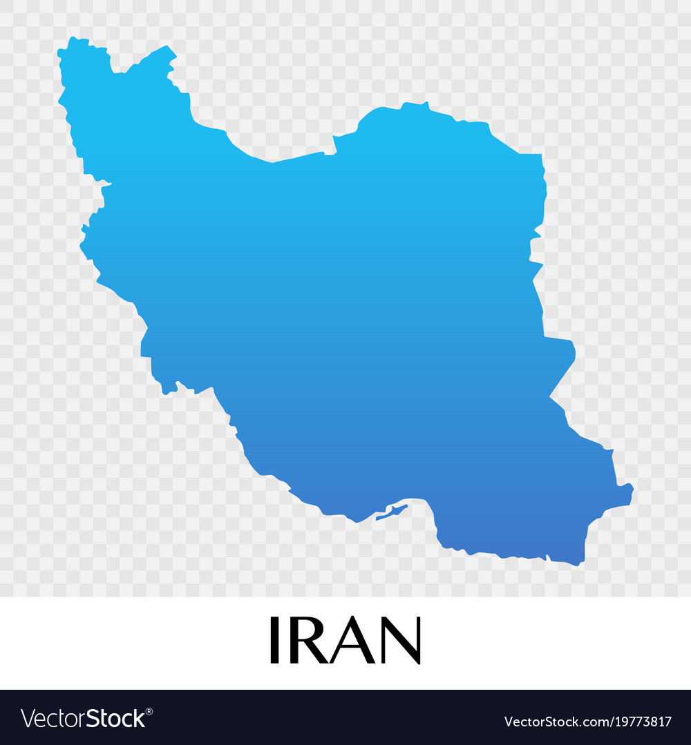 Iran map in asia continent design Royalty Free Vector Image