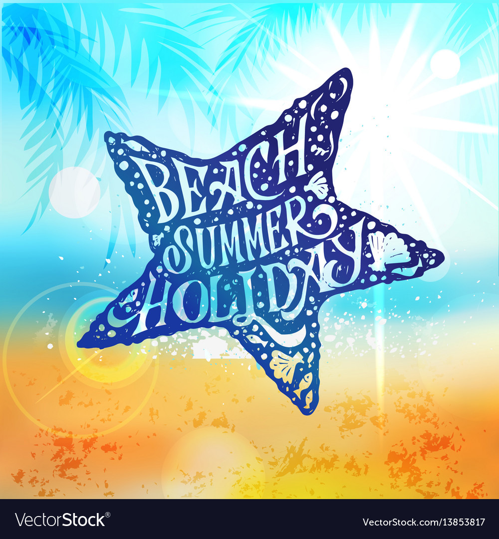 Let the sunshine in summer beach poster