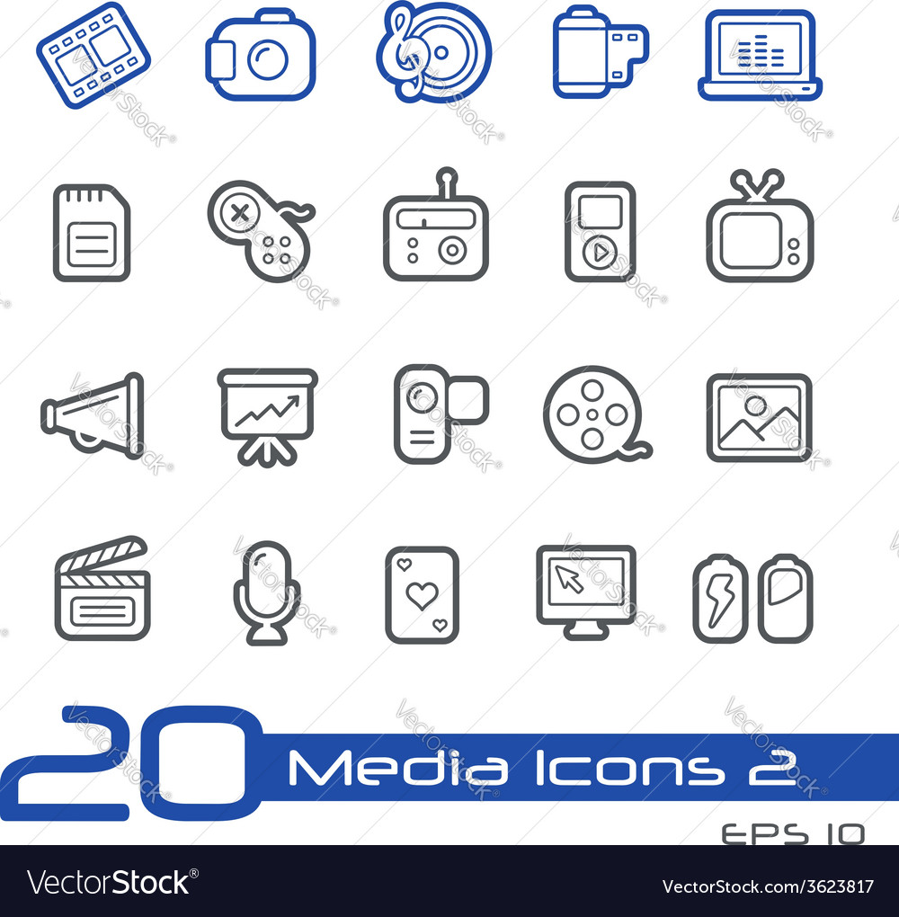 Multimedia Outline Series vector image