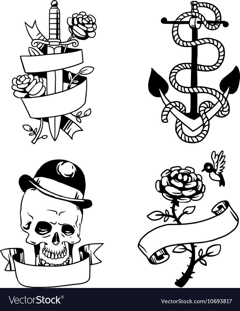 Old vintage tattoo