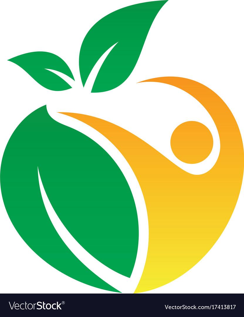 people leaf eco logo royalty free vector image rh vectorstock com logo vector images logo vector download
