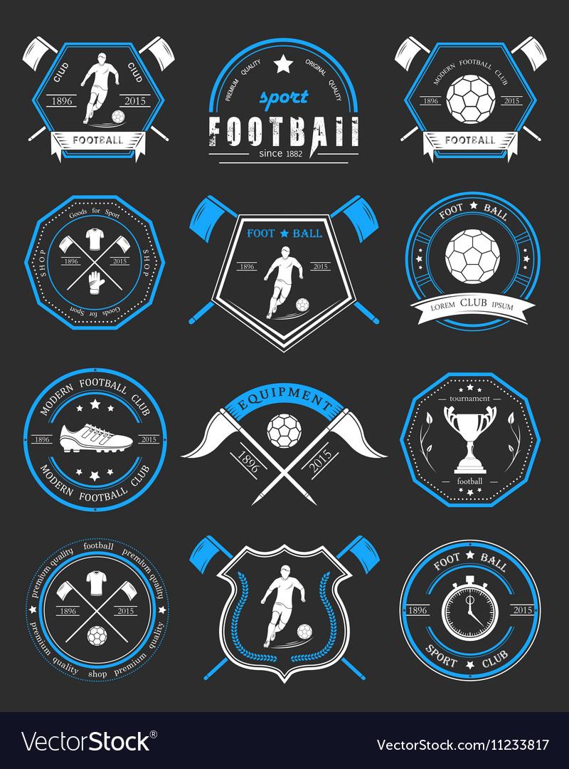 Set of Football Badge and Logo