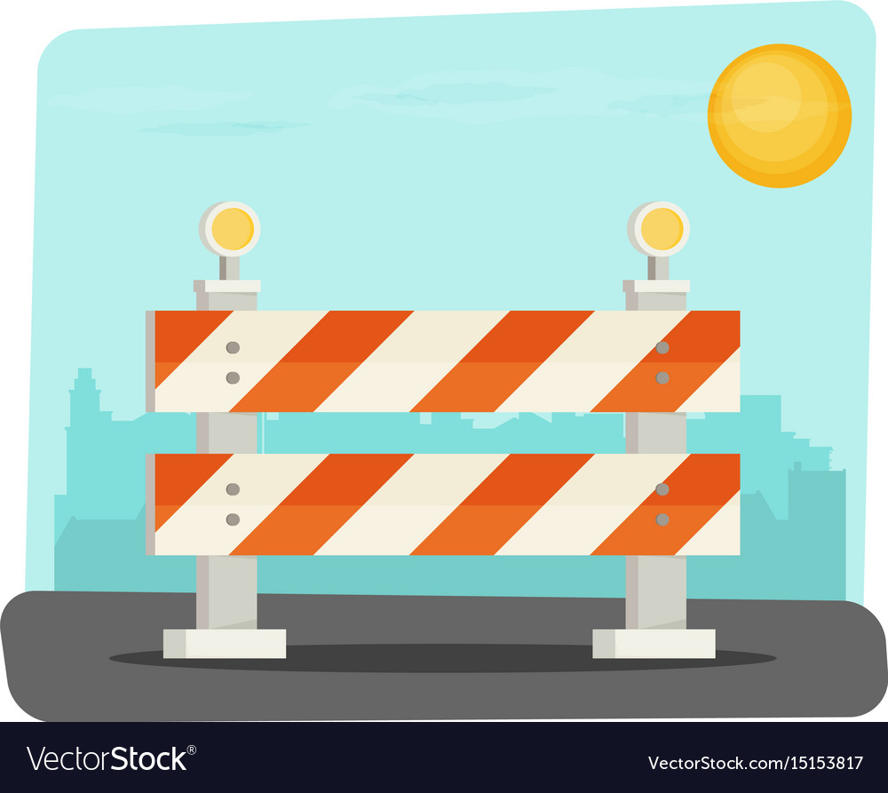 Under construction concept in flat design style vector image