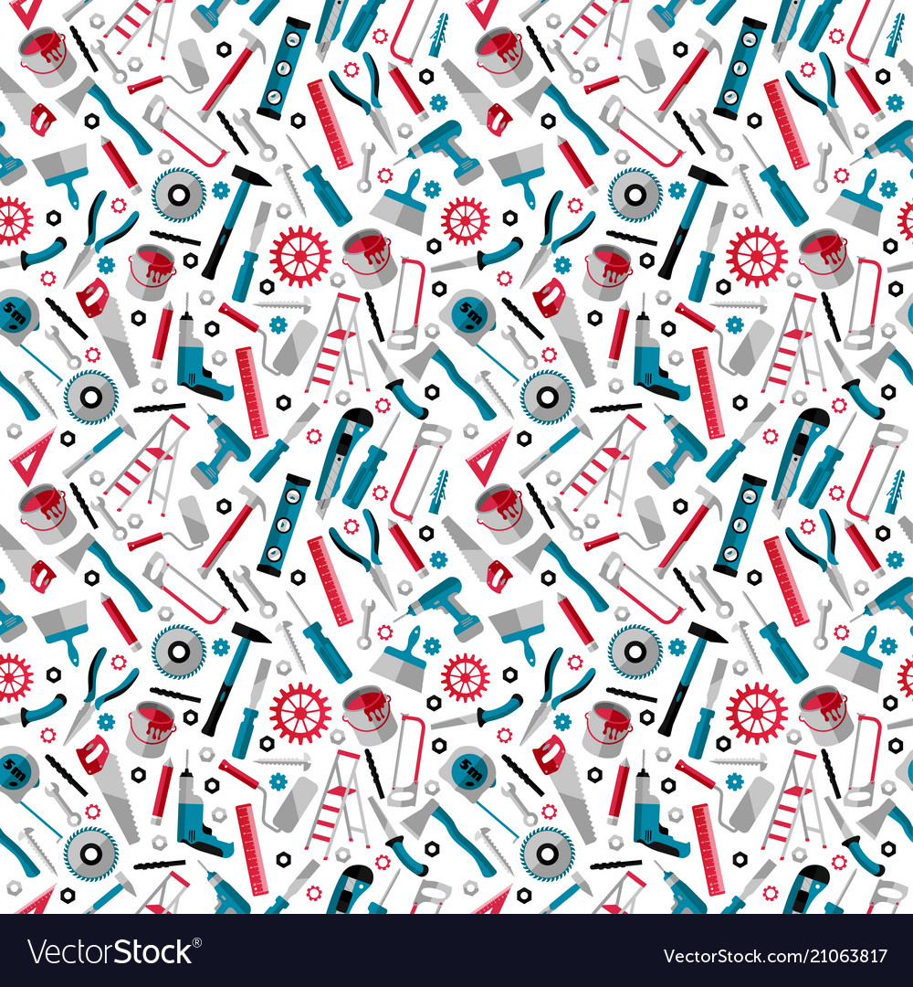 Working tools background labor day seamless