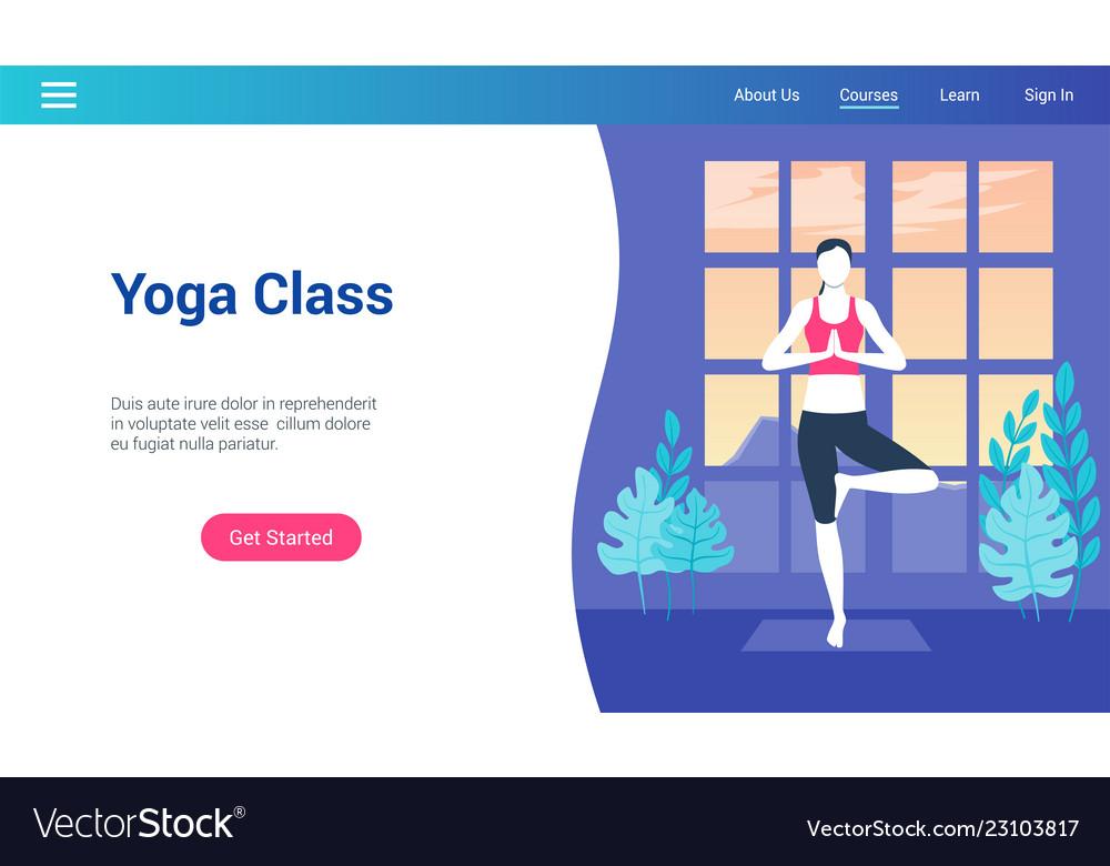 Yoga class lp template