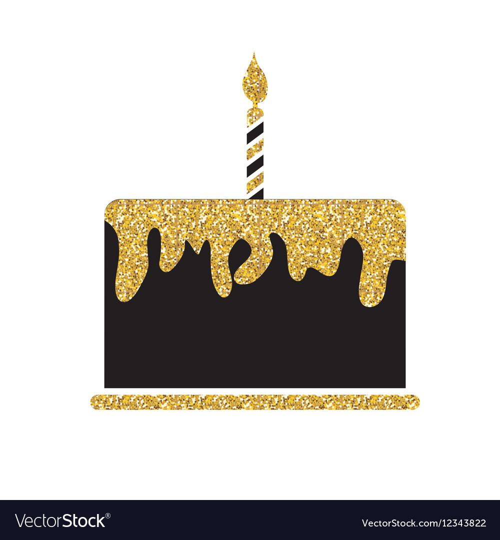 Birthday Cake Flat Web Icon