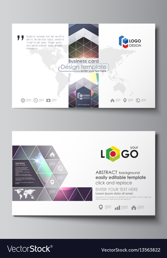 Business card templates easy editable layout vector image fbccfo Gallery