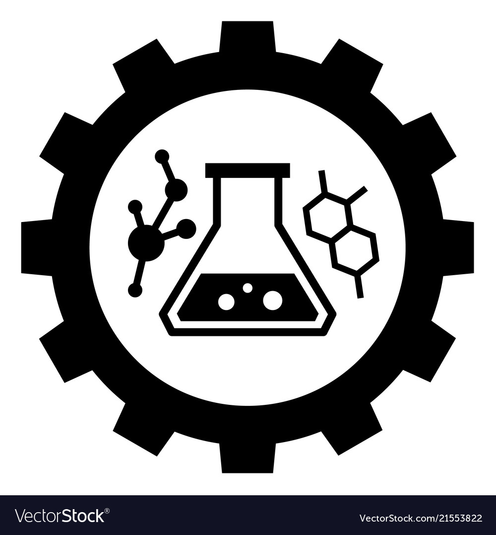 Chemical industry sign icon