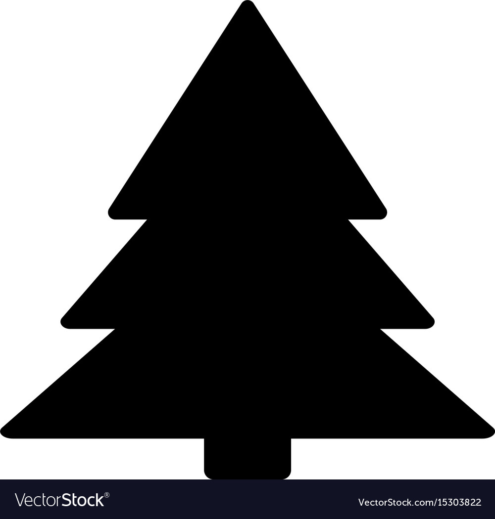 Christmas Tree The Black Color Icon