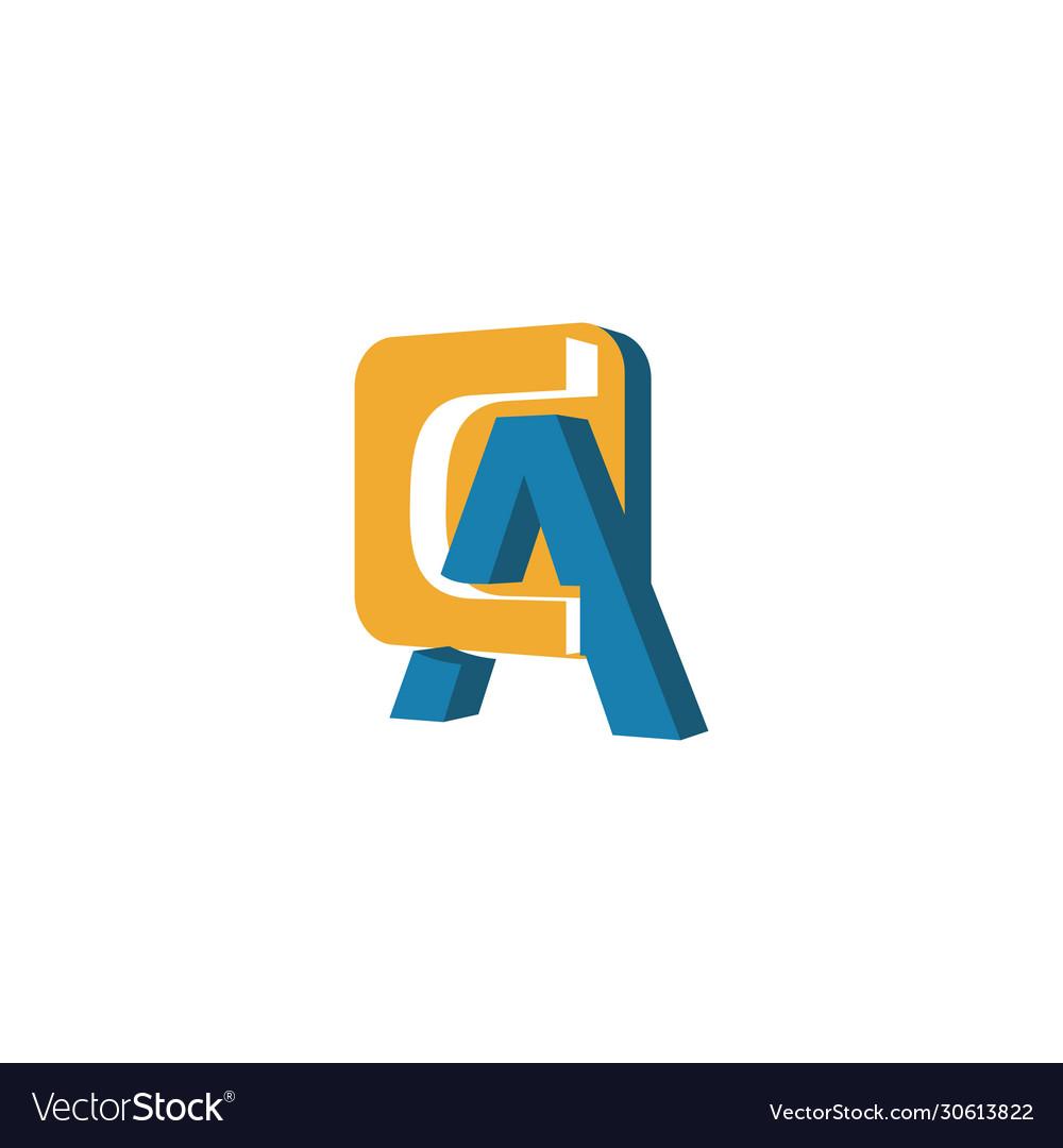 Creative abstract letter ca logo design