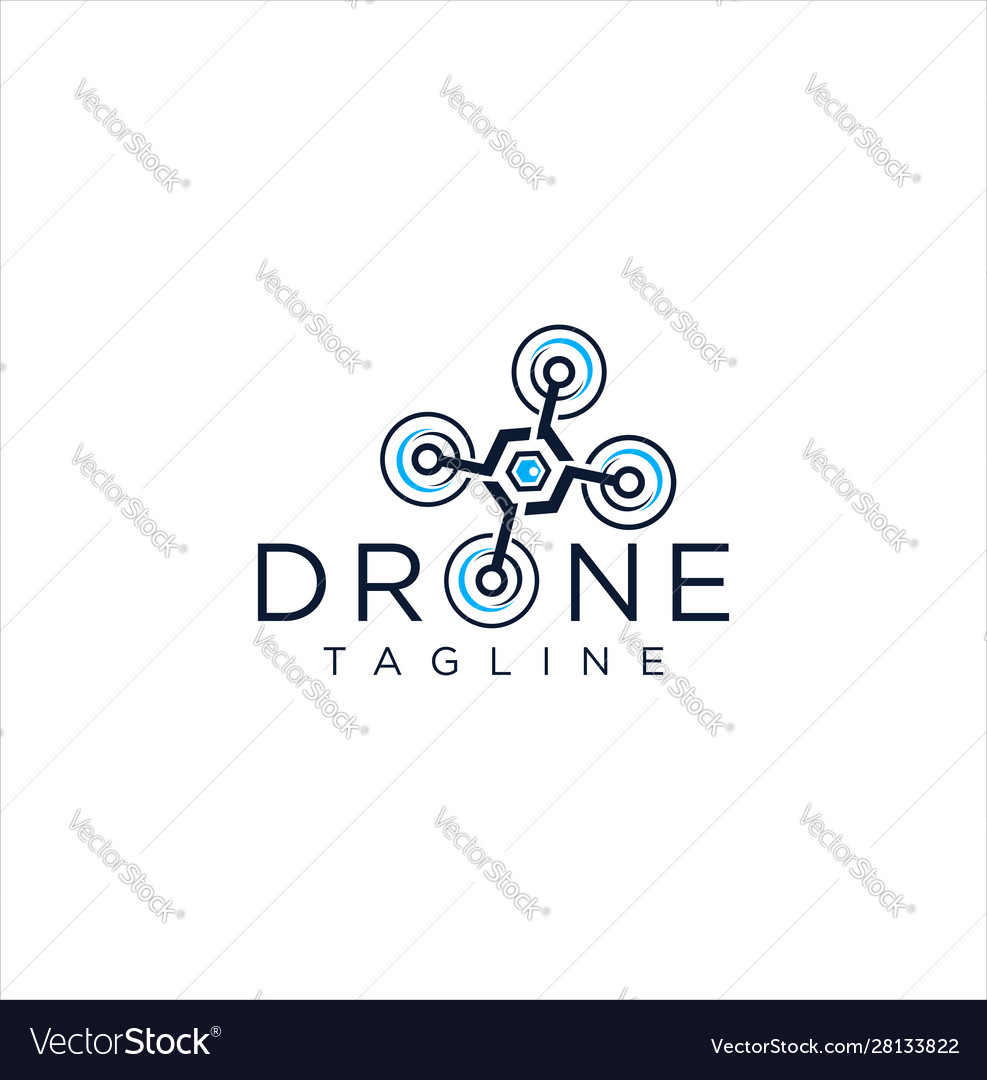 Drone logo icon design stock