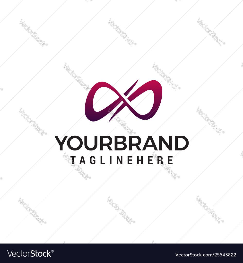 Infinite logo design concept template