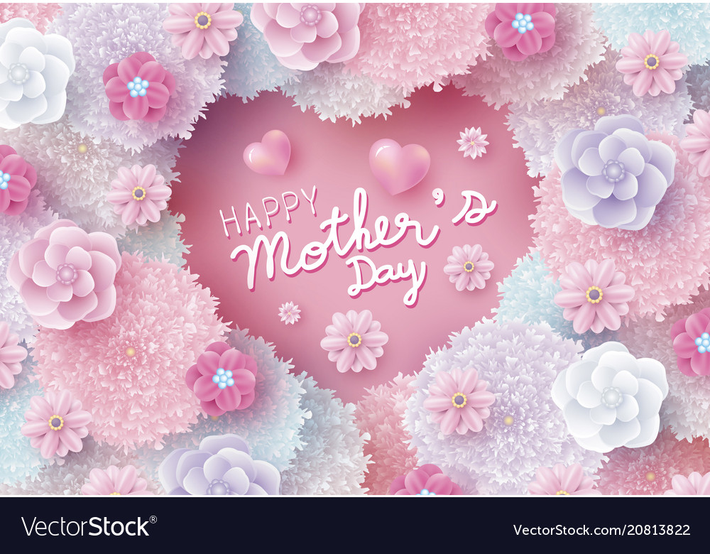 Mothers day card design colorful flowers