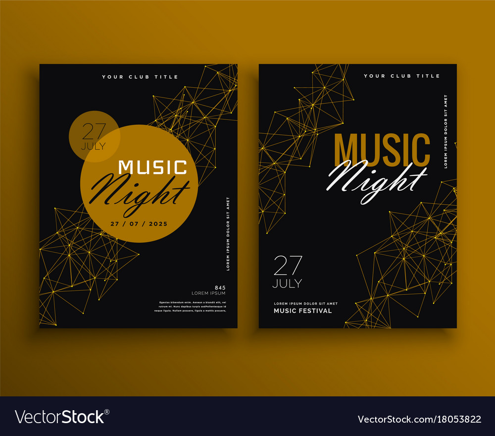 Music night party flyer template design