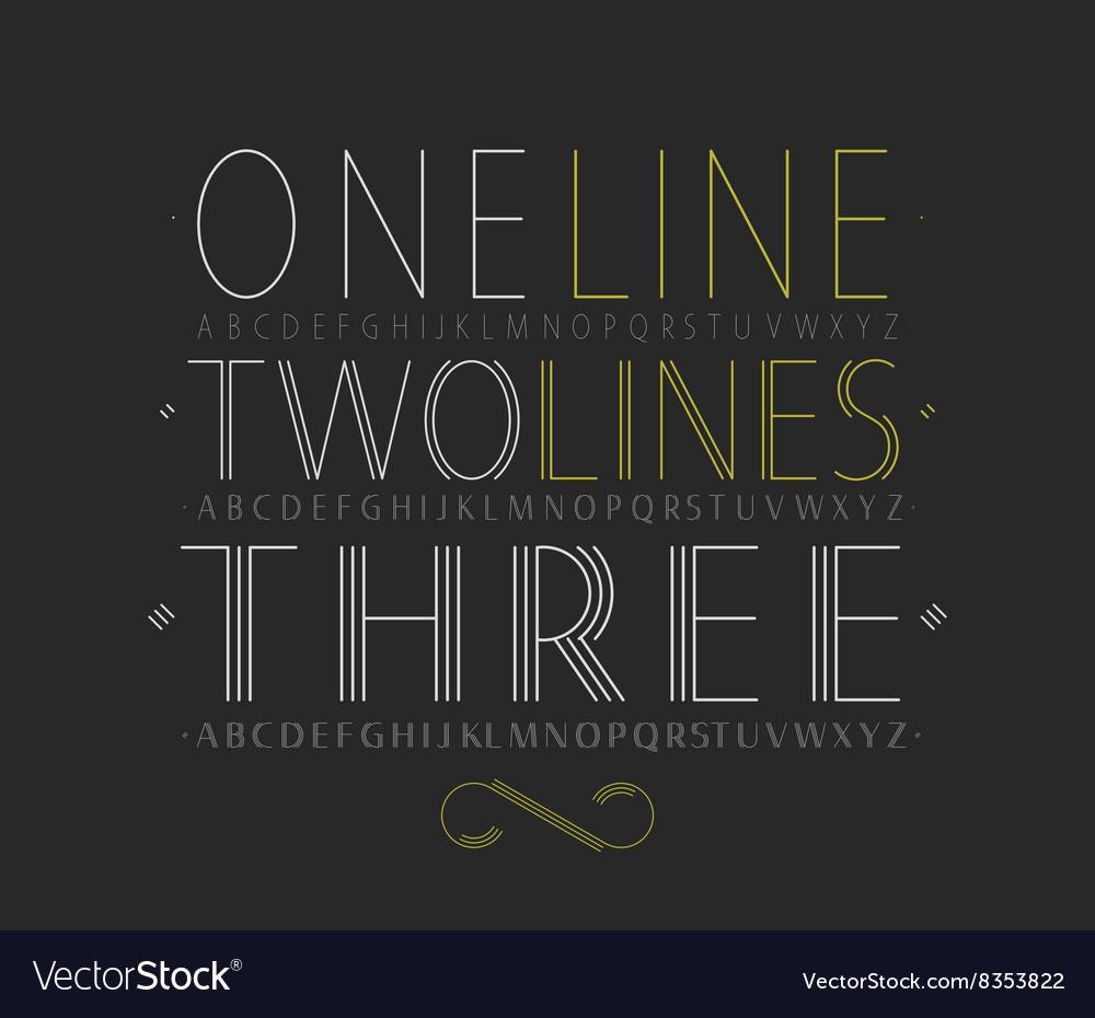 Set of three capital alphabets vector image