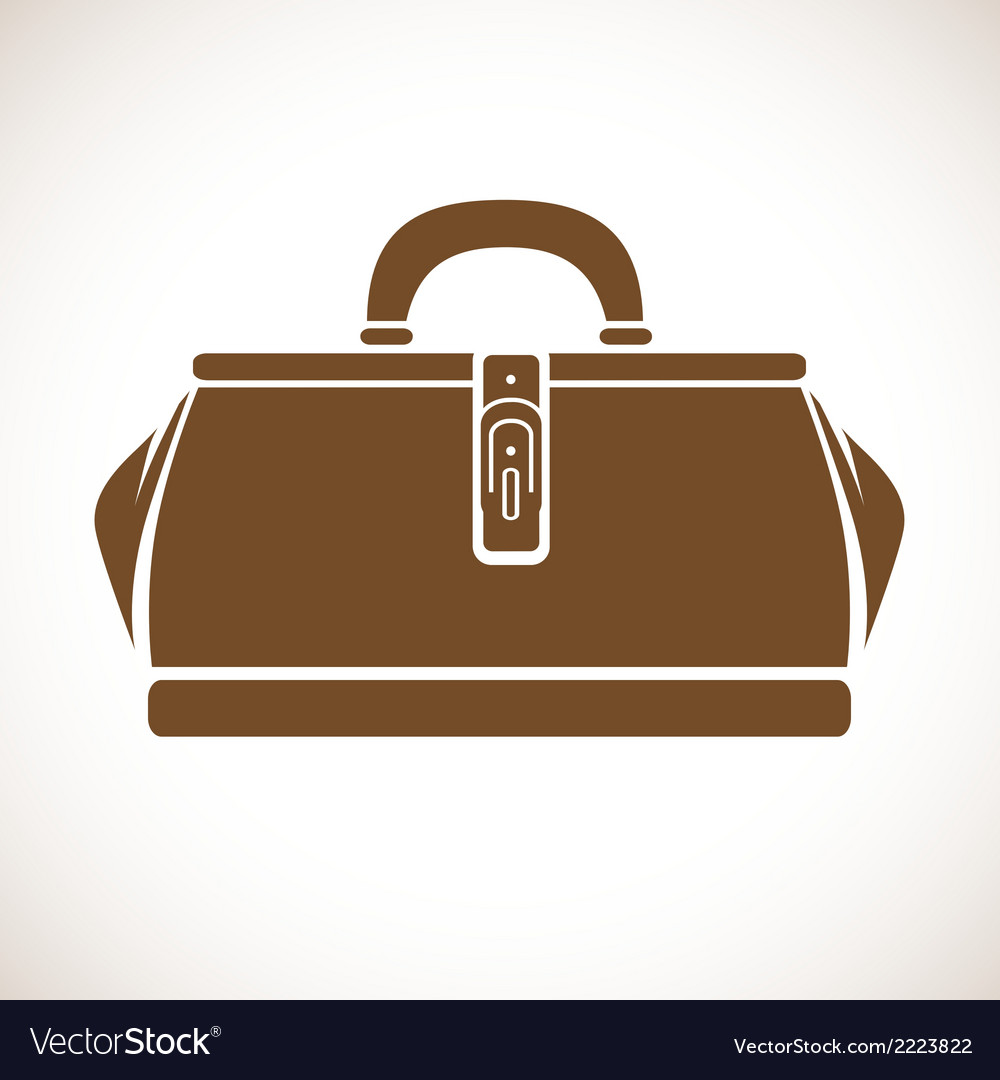 Vintage Doctors Bag vector image