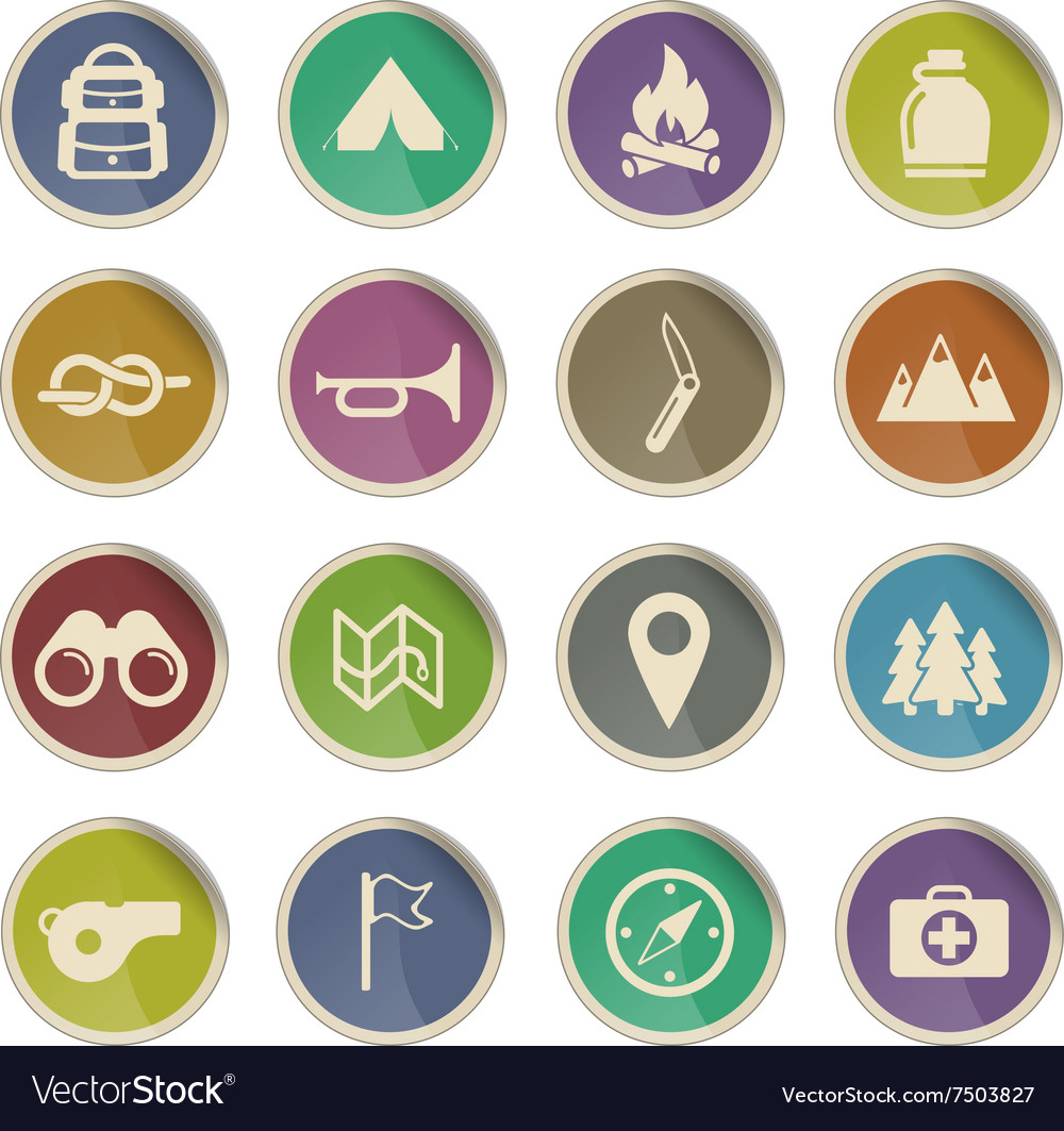 Boy Scout Label icons