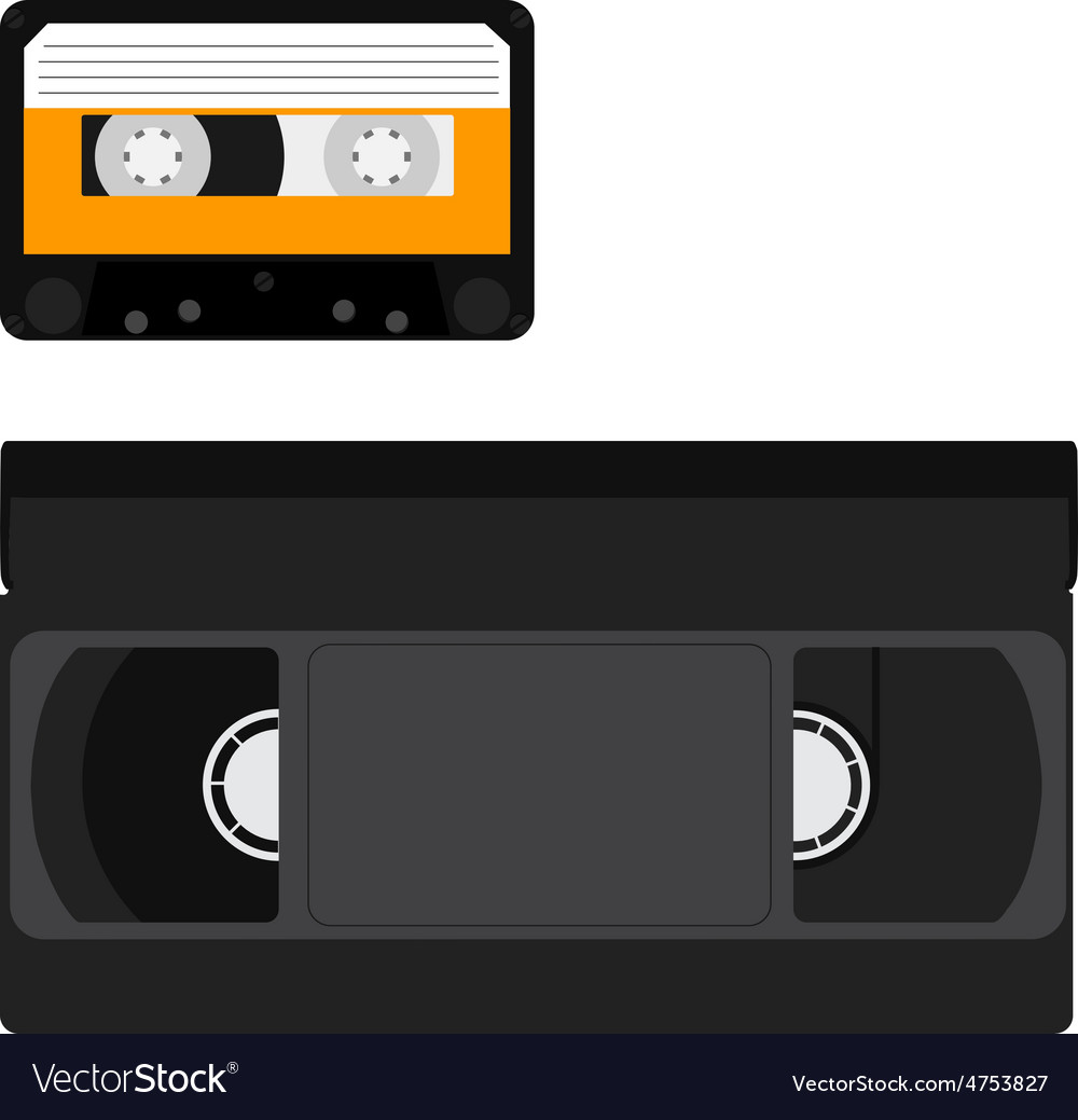 Cassette And Vhs Tape Royalty Free Vector Image