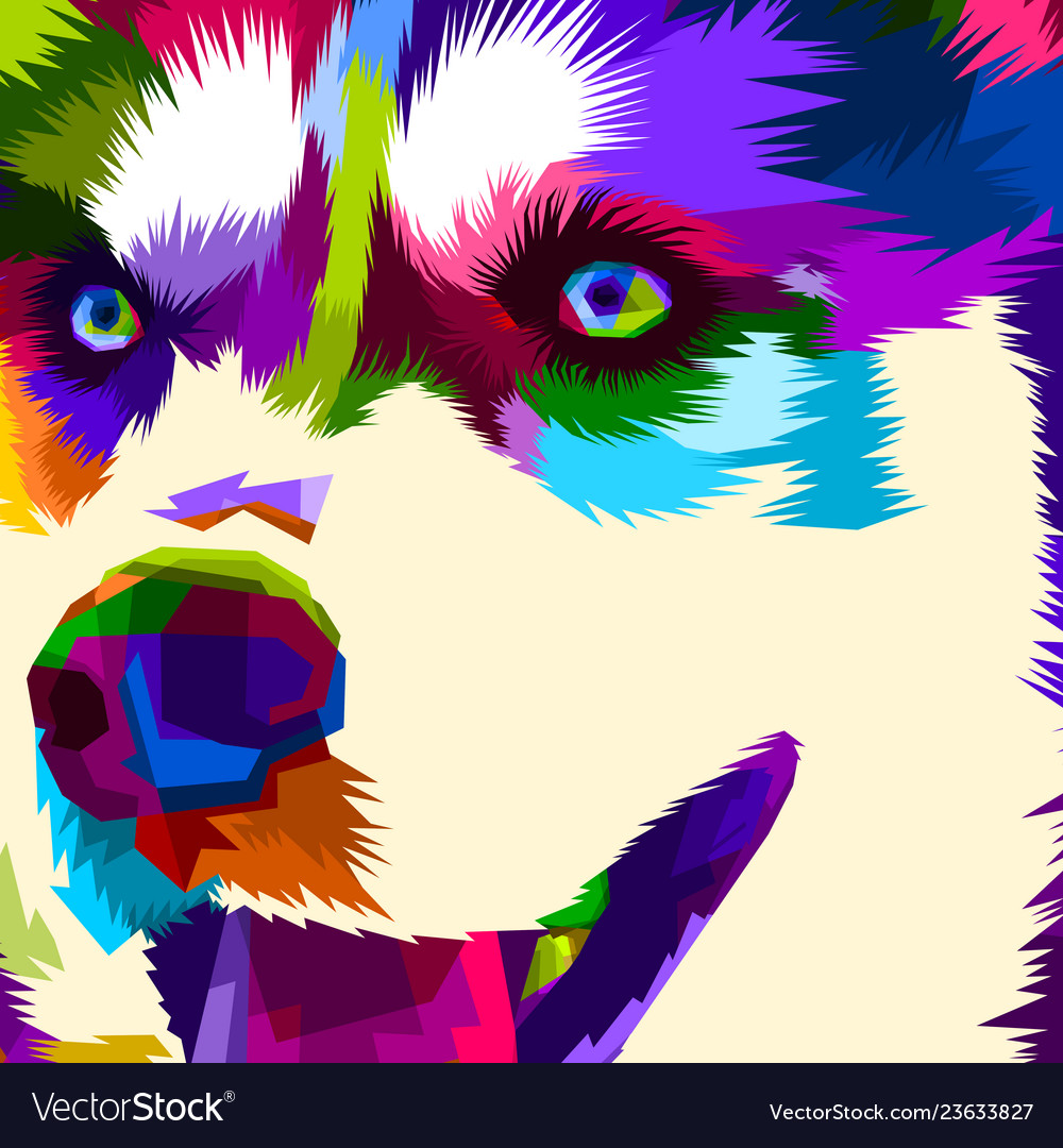 Close up of face husky