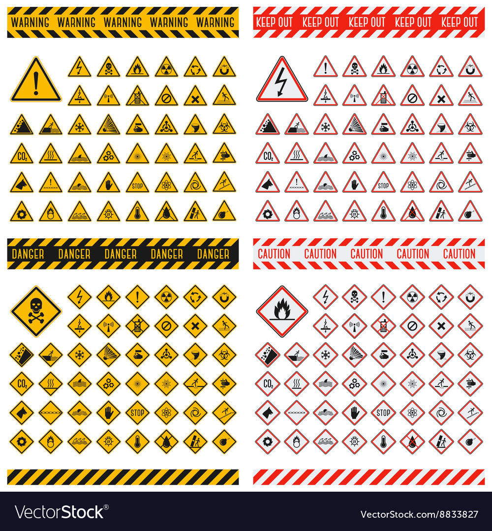 Danger sign collection
